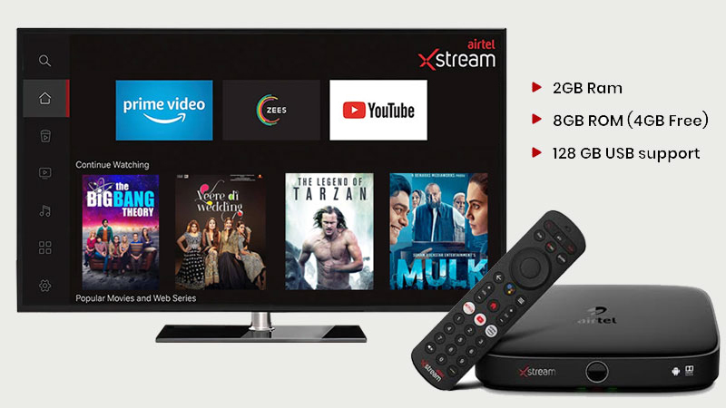 Airtel X stream New Connection HD